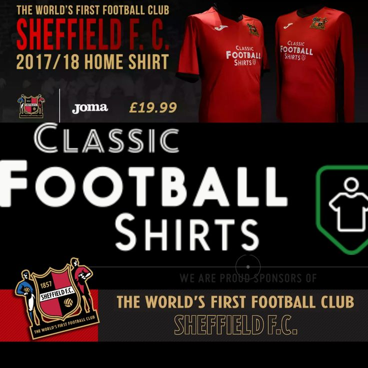 Sheffield FC (The World's First Football Club) release thelowest price current season jersey in World Football available at Classic Football Shirts: Priced at £19.99