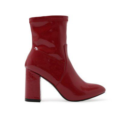 0b70ac7ef9e Raya Pointed Toe Ankle Boots in Dark Red Patent | Clothes | Boots ...