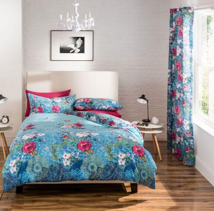 Orient bedroom| Sypialnia w orientalne kwiatowe wzory Sypialnia w romantycznej odsłonie #romantic #bedding #roses #flowers #dekoria #bedtime #bedroom #elegante #soft #interior #furniture #bed #orient