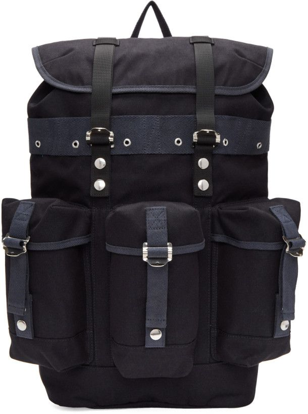 Sacai - Navy Buckled Backpack   BACKPACK   Backpacks, Bags, Navy c25a10d69e
