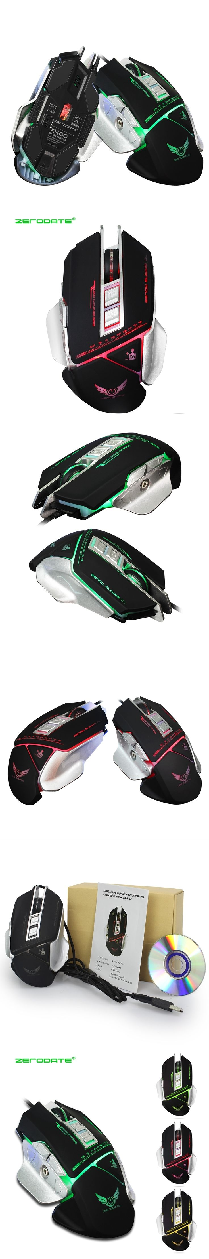 Computer Gaming Mouse Mechanical Mouse Macros Define USB Wired Optical Mouse 3200DPI 7 Button LED Game Mouse PC Gamer for Laptop