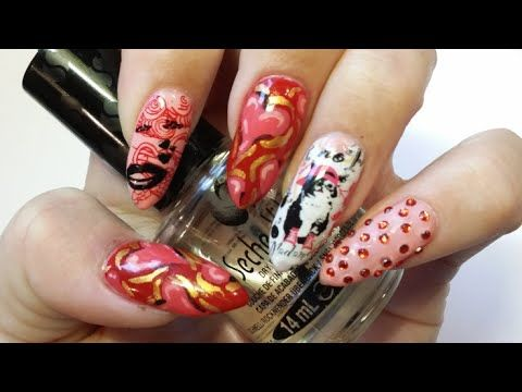 My This n that valentines nails