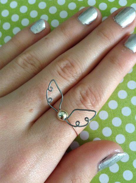 Golden Snitch Ring Harry_Potter jewelry  #adorkable @Jenn L Milsaps Klopcic !!!!