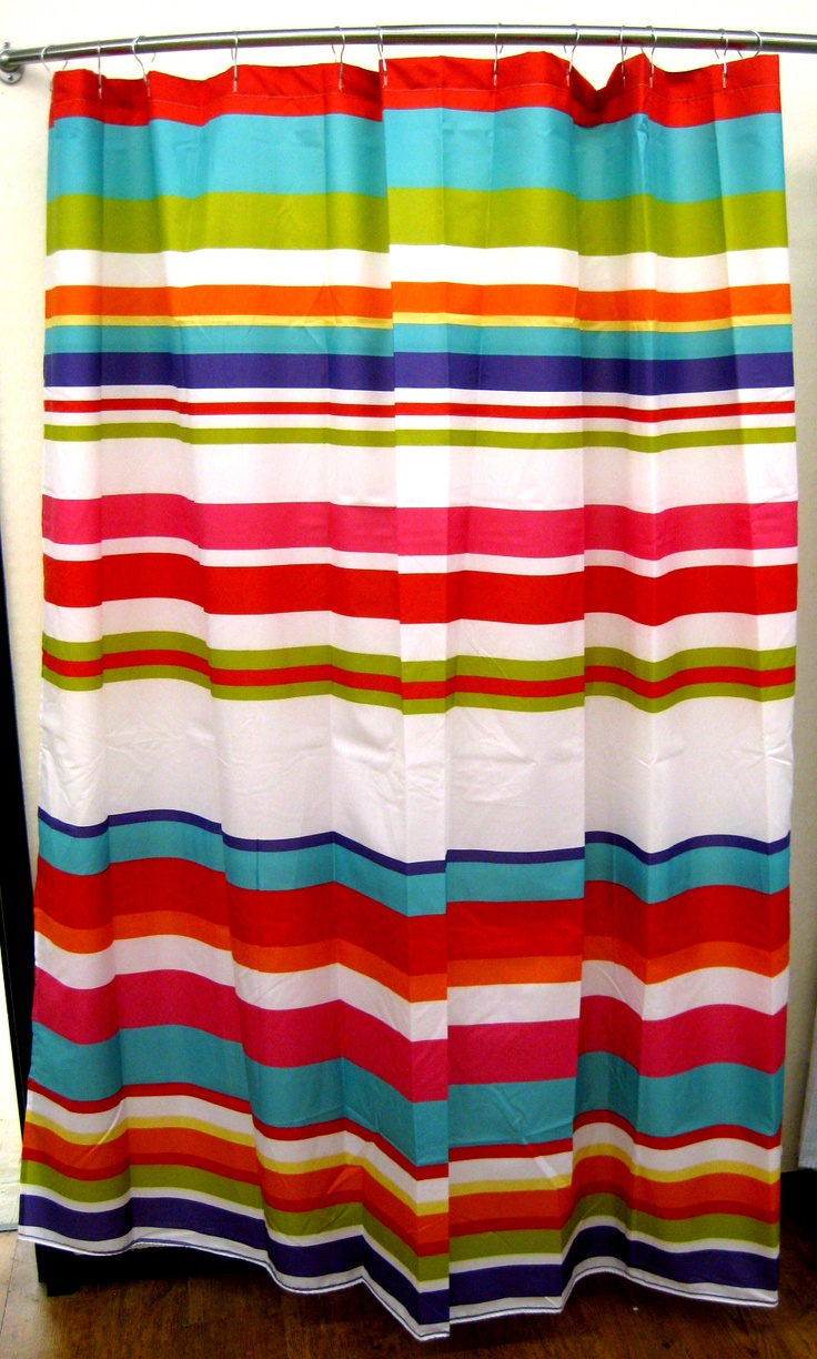 Pottery barn dr seuss shower curtain -  19 50 Bright Stripe Shower Curtain Showercurtain
