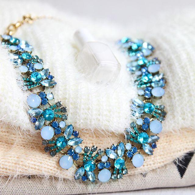 Pretty Ocean Blue Statement #Necklace 43,90 € #happinessbtq