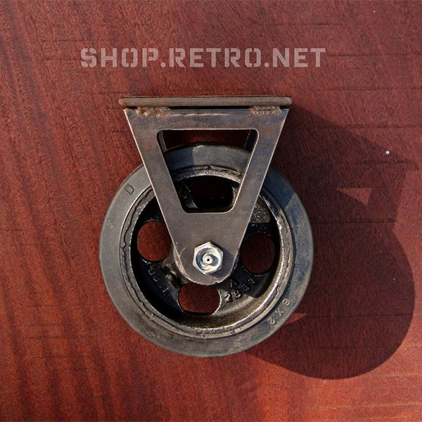 6 inch rigid caster with rubber tread, by Vintage Industrial in Phoenix. antique furniture caster