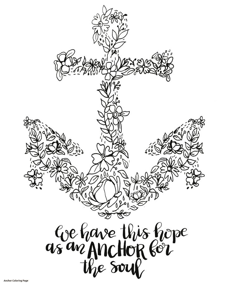 Chevron Anchor Coloring Page Free Printable Pages