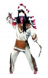 Indianen kostuum Apache   Kostuums mannen   FEESTARTIKELEN BELGIE - GOEDKOPE FEESTARTIKELEN - FEESTKLEDING - CARNAVALSKOSTUUMS