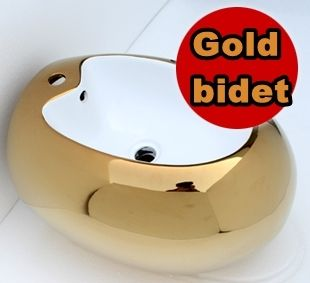 1380.00$  Buy now - http://ali37n.worldwells.pw/go.php?t=32729835859 - European style Fashion Toilet Ceramic Gold bidet Bathroom Ultra-quiet Flush Shattaf wash Device Women's Sanitary Ware 1380.00$