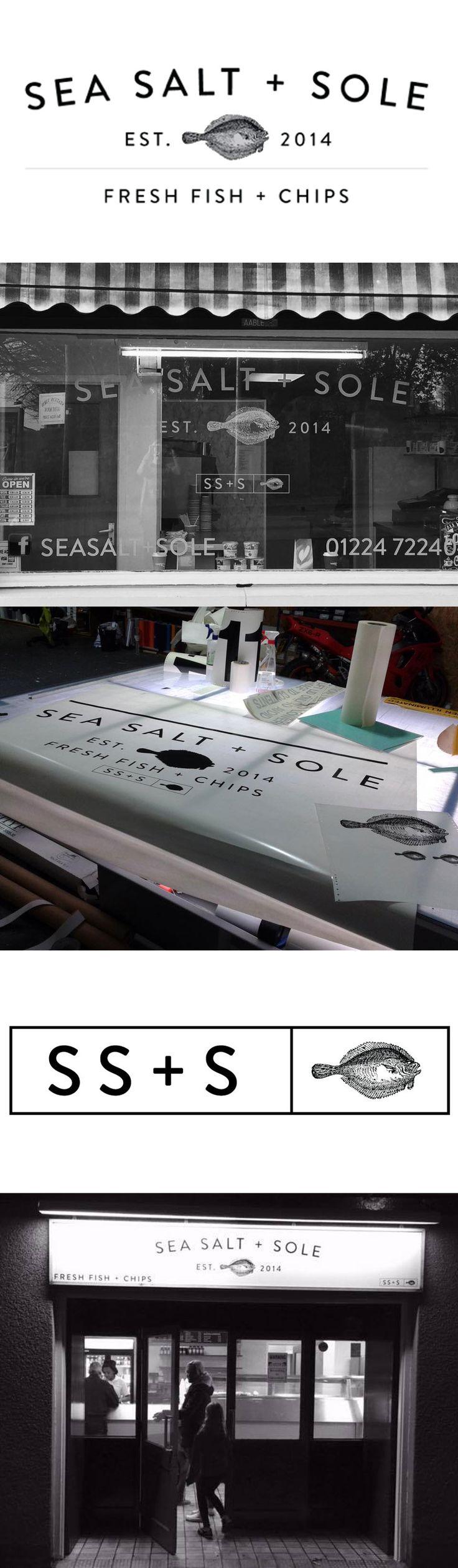 Sea Salt + Sole Branding    A family owned fish & chip takeaway shop.   Dice | Aberdeen | Scotland