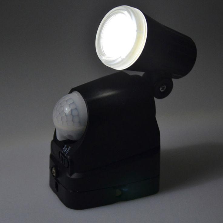 Green PowerLEDSafeRF - Batterie LED Flutlichtstrahler mit Bewegungsmelder