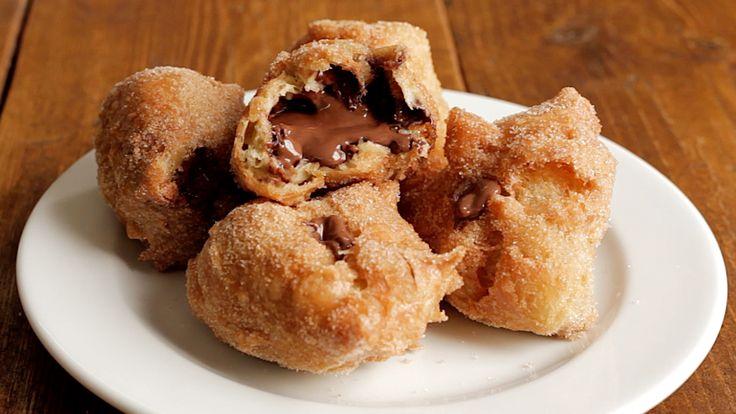 Nutella Churro Donut Holes - Twisted
