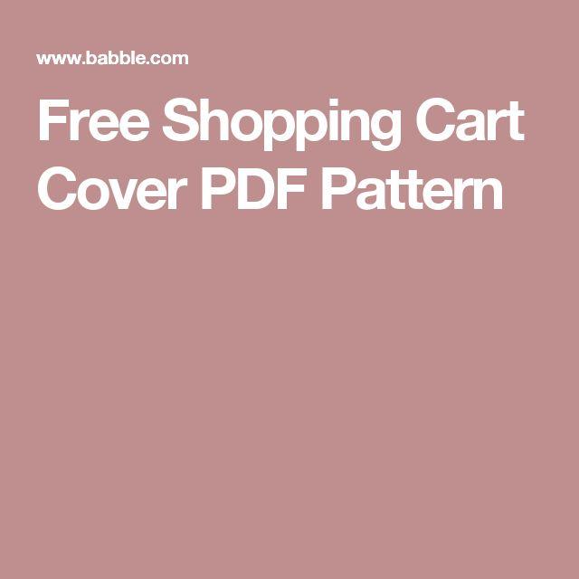 Free Shopping Cart Cover PDF Pattern