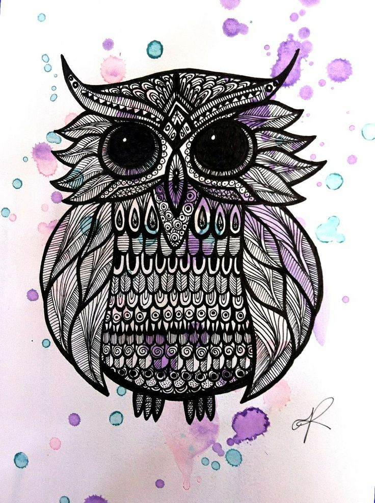 Doodling.. 'Curious Owl' by Melanie Roberts