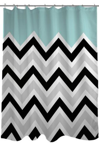 15 best Black and White Chevron Shower Curtain images on Pinterest ...