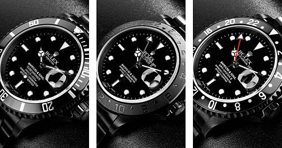 Bamford Black Rolex Watches