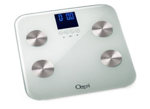 White Digital Glass Bathroom Scale Weighs To 440 Lb 200kg Fat Muscle Bone Mass