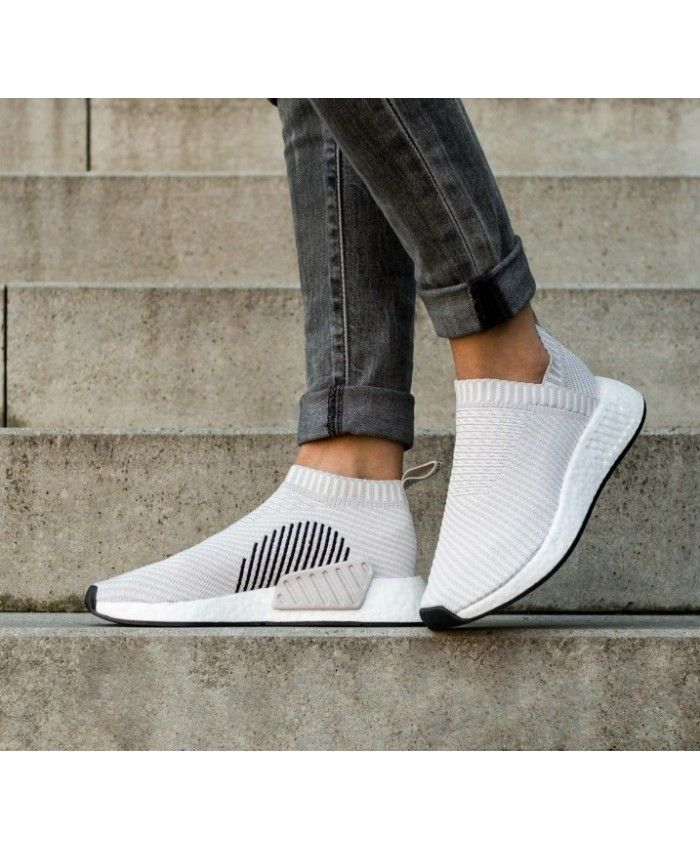 Adidas NMD CS2 Primeknit Trainers In Pearl Grey  160918e7a