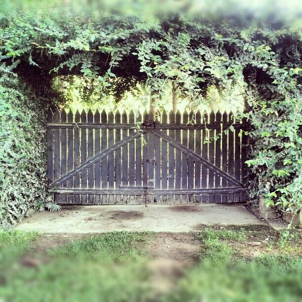 Double picket gate...