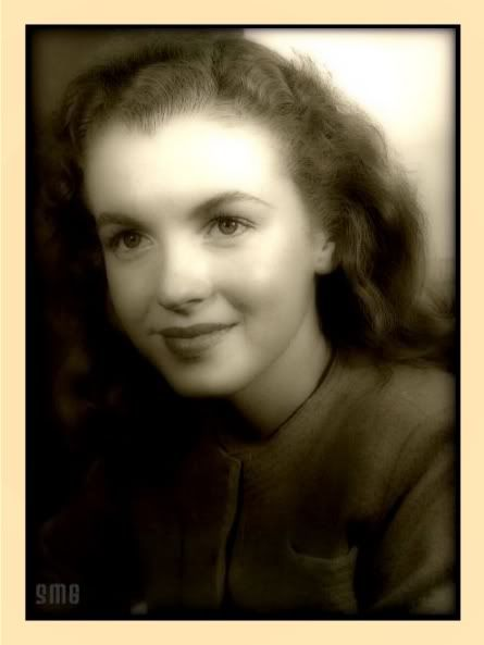 A very young Norma Jeane a.k.a. Marilyn Monroe.