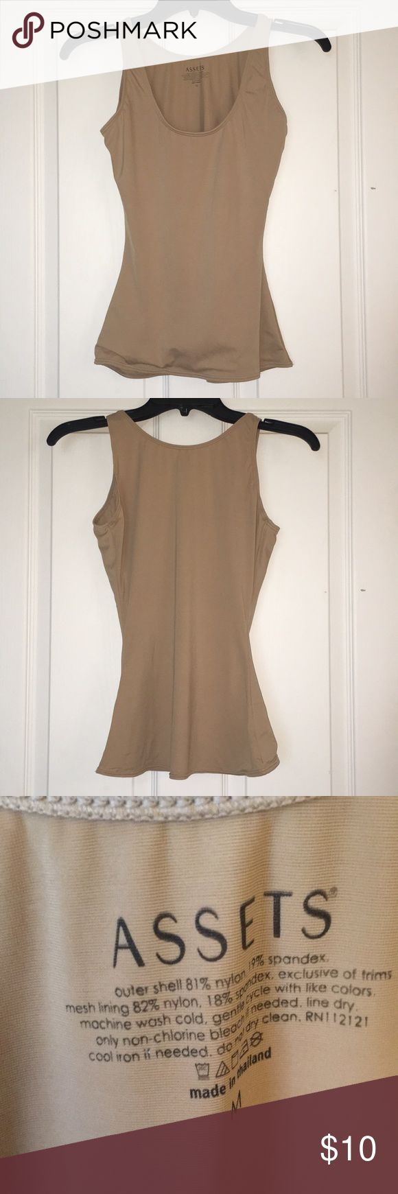 Assets by Spanx Shaping Tank Shaping tank top in beige.  Worn once, perfect condition. Assets By Spanx Tops Tank Tops