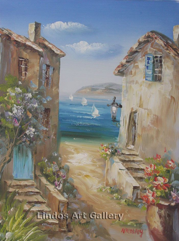 Path to the Beach Oil Painting