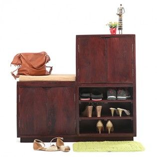 Buy Shoe Racks Online from WoodenStreet.com. Select from the huge collection of wooden shoe rack online at best prices.