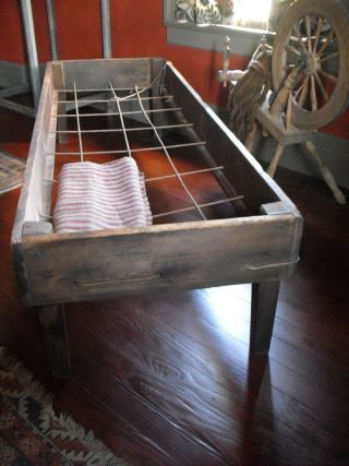 primitive rope bed! Going to make one of these for my little prairie room!!!