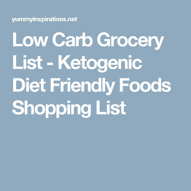 Low Carb Grocery List - Ketogenic Diet Friendly Foods Shopping List | Keto recipes | Pinterest ...
