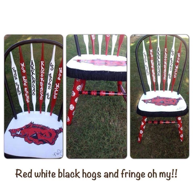 Nicole Curry FB Page Arkansas Razorback Chair Licensed Artist