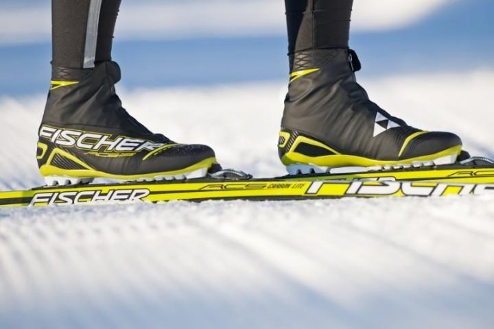 Детские беговые лыжи и ботинки fisher