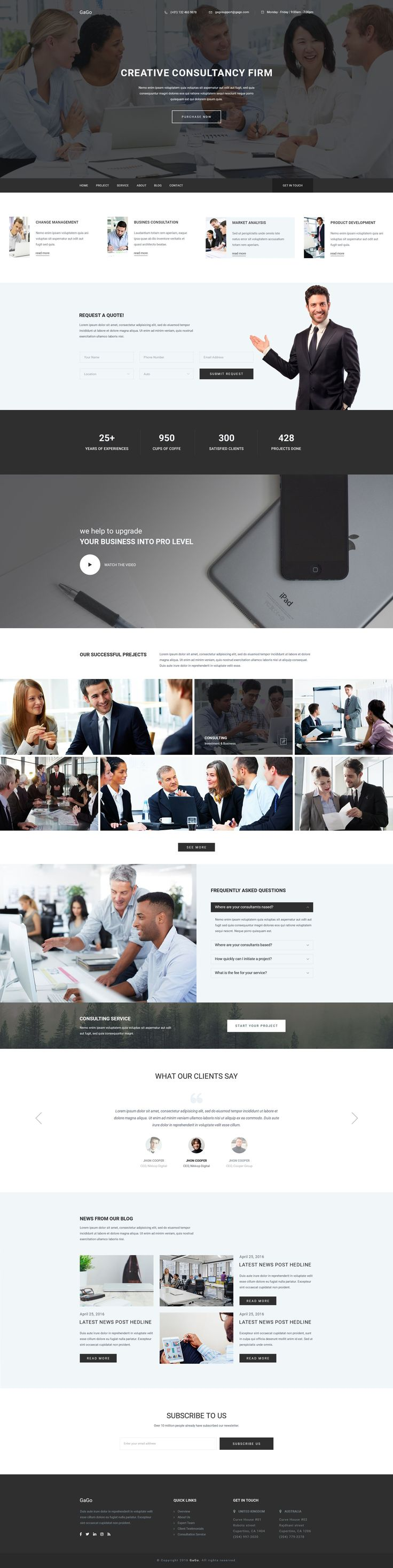 Business consulting and finance website template 01 #FinanceWebsite