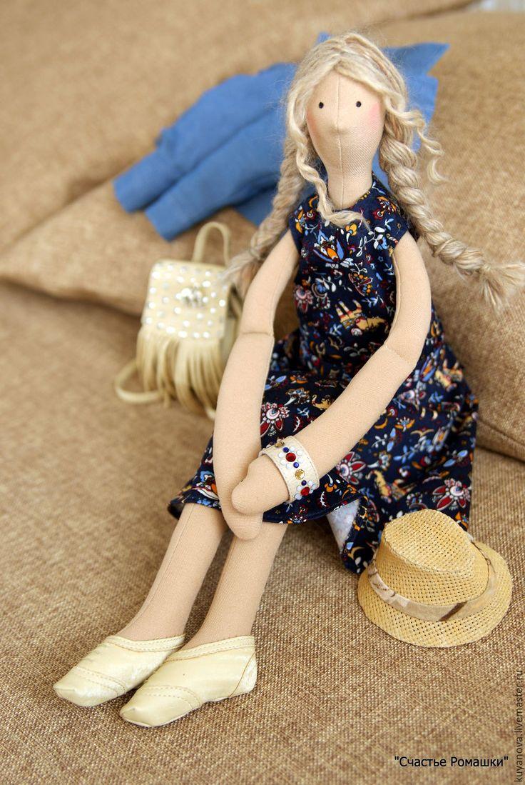 Купить Натали - комбинированный, тильда, кукла ручной работы, интерьерная кукла, игровая кукла