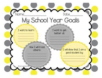 Help your students have success in making goals in the beginning of the school year.  Questions include: what I want to learn, what I want to get better at, how I will treat others, and how I will show that I am a good student. Fun and simple back to school worksheet activity.