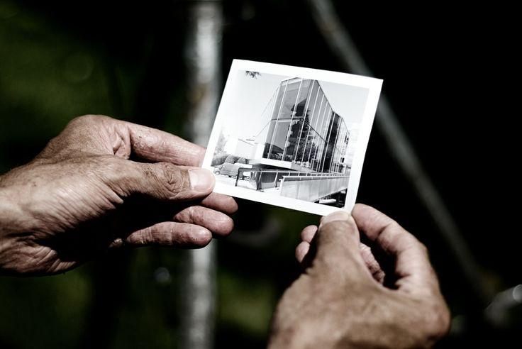 Un provino polaroid prima dello scatto definitivo col banco ottico