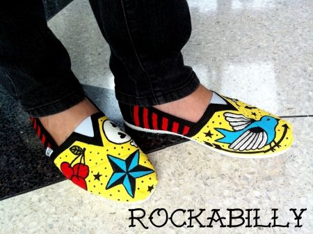 Cool shoes painted with Apple Barrel paints. #PlaidCrafts
