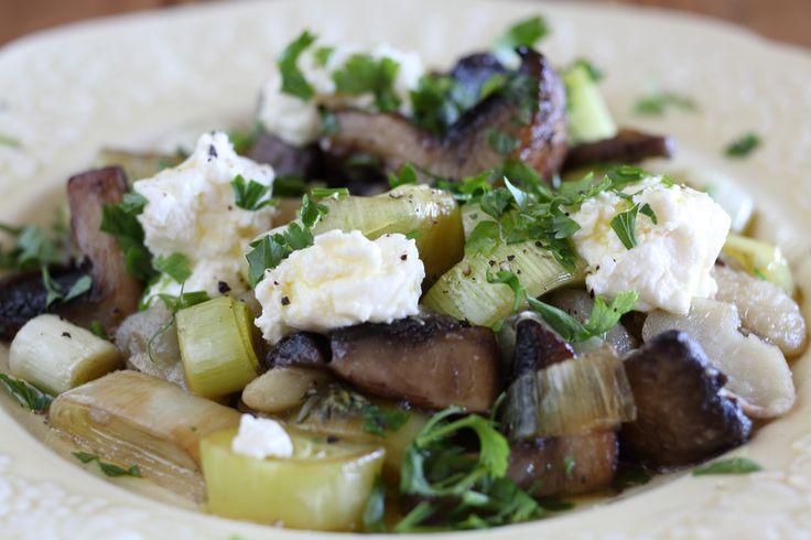 White Beans with Mushrooms, Leeks and Lemon - Maggie Beer