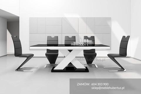 nowoczesny stół wysoki połysk rozkładany Hubertus