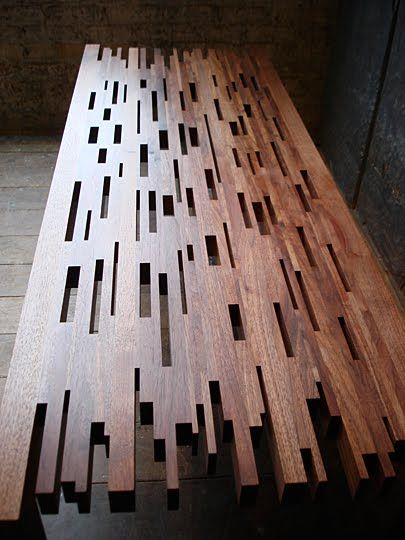 This is a good concept for a screen........................::::Brooklyn woodworking table.