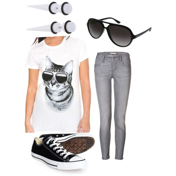 Cool cat indie scene outfit