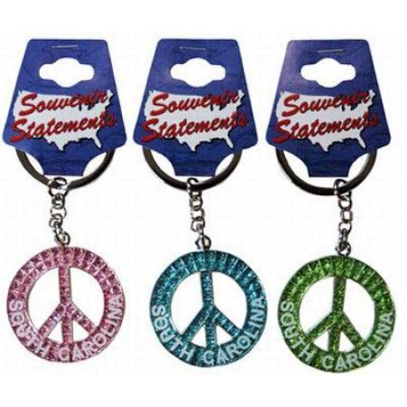 Jenkins South Carolina Keychain- Glitter Peace Symbol (pack Of 60)