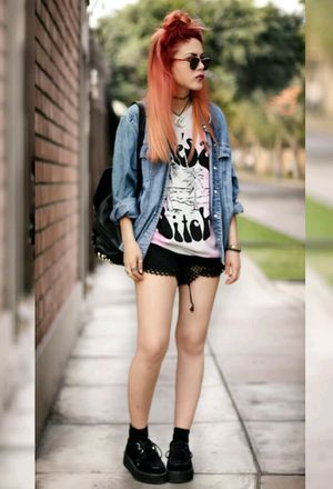 Look by @minmay with #sneakers #casual #hm #rock #jeans #streetstyle #shorts #romwe #jackets #college #tshirts #looks #blacksneakers #whitetshirts #chokers #coolshorts #blackbags #darkblueshirts #blackshorts #chicwich #heavymetalboyfriend.