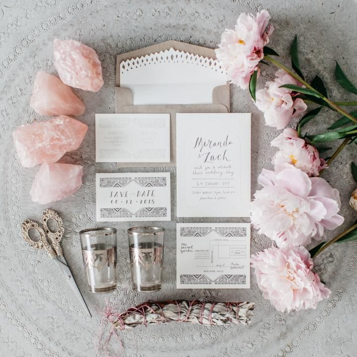 Luxe Bohemia / Wedding invitations by The Little Press / Styling by The LANE
