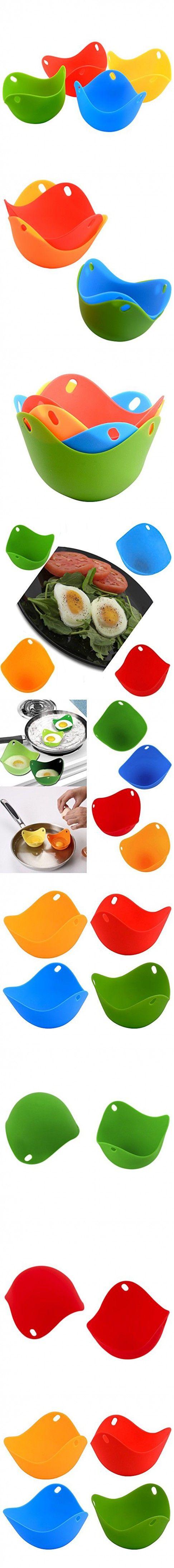 ETopLike Silicone Egg Poacher - Set of 4