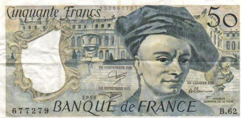 billet de cinquante francs ...de quoi se sentir riche à l'époque !