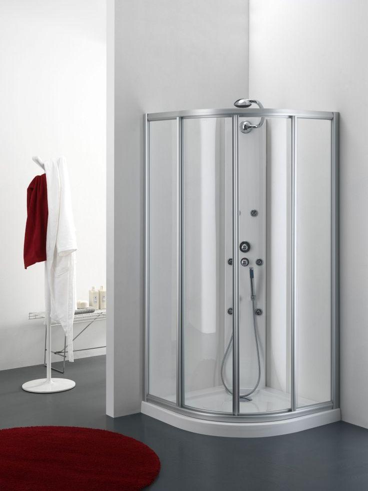 Box doccia Semicircolare GULITER con porte scorrevoli da 80 e 90 cm