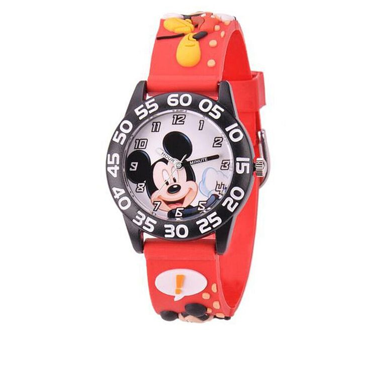 Disney Mickey Mouse Kid's Time-Teacher Watch with Rotating Bezel