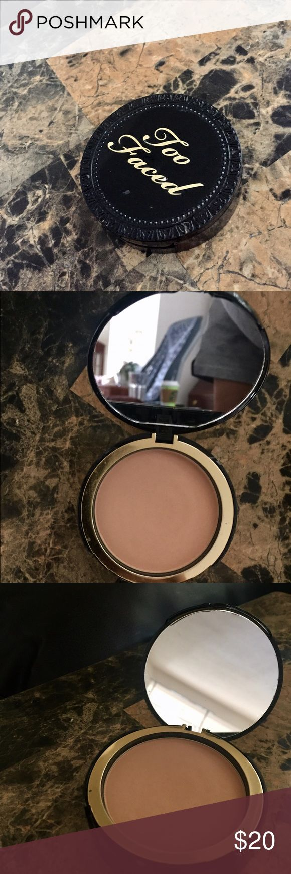 Too Faced Cocoa Powder Foundation The color is medium tan, once used one time. Brand new condition! Too Faced Makeup Foundation