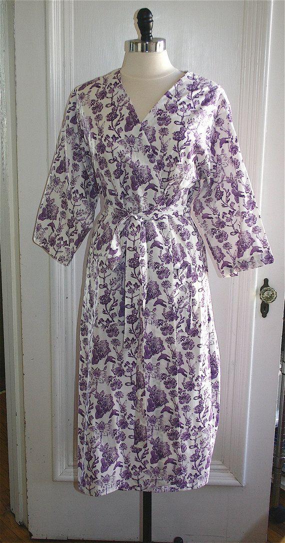 Mid Calf Kimono Robe. Mid Calf Bathrobe. Mid by ModernKimonoRobes