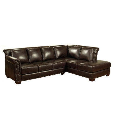 Ellis leather sectional sofa at joss main for the home for Sectional sofa joss and main